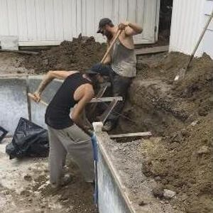 HB Pools working hard to repair a swimming pool for Ottawa residents.
