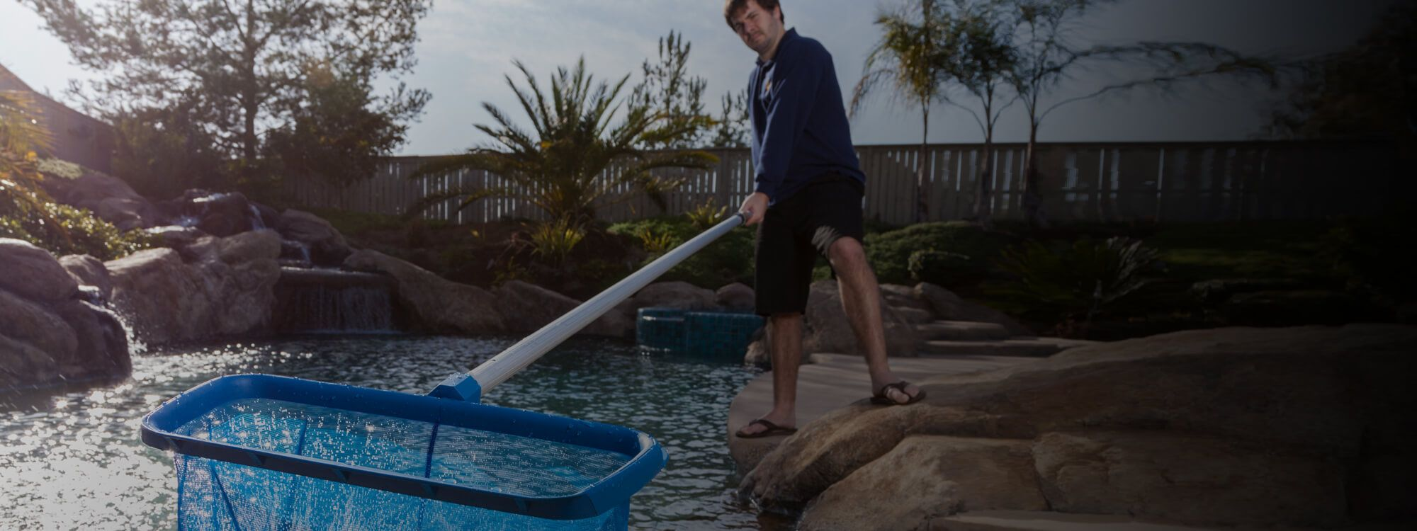 Pool service experts HB Pools, cleaning a local pool and getting it clean for springtime!